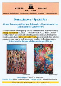 Flyer Jans Pakhuys groep expo 2016